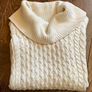 American Eagle Outfitters off white knit sweater